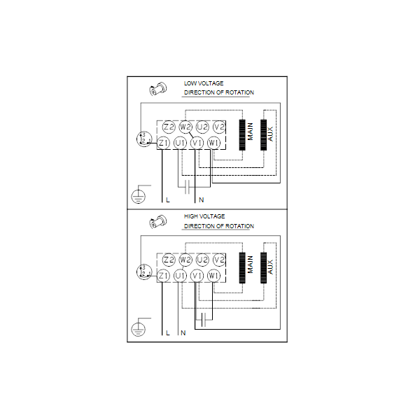 Вертикальный многоступенчатый центробежный насос Grundfos CR 1-11 A-A-A-E-HQQE артикул 96529479 – схема подключения