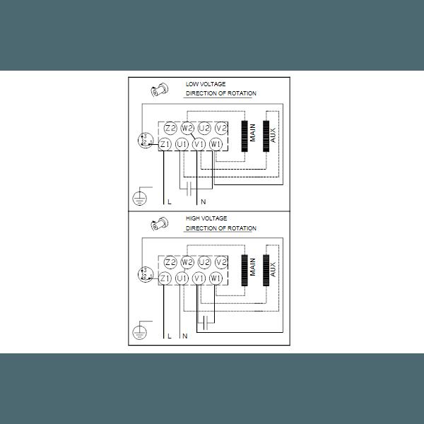 Вертикальный многоступенчатый центробежный насос Grundfos CR 1-15 A-A-A-E-HQQE артикул 96529482 – схема подключения