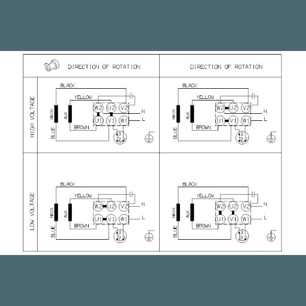 Вертикальный многоступенчатый центробежный насос Grundfos CR 1-17 A-A-A-V-HQQV артикул 96558253 – схема подключения