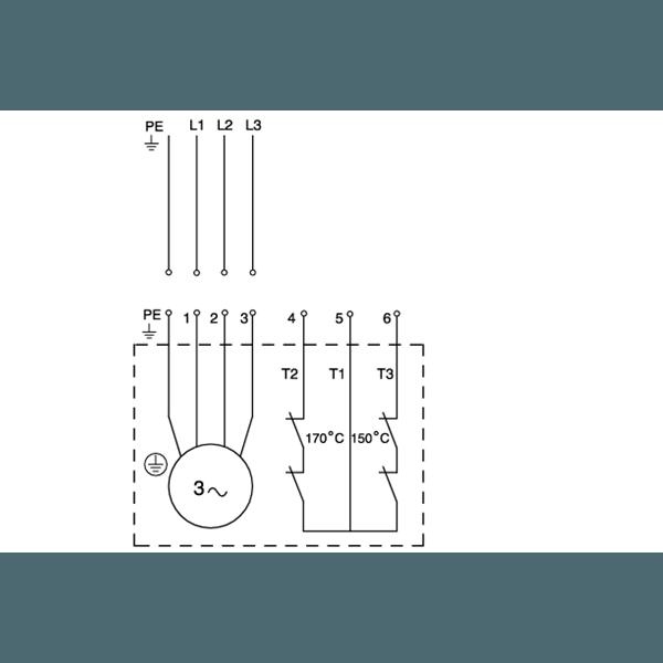 Дренажный погружной канализационный насос Grundfos для канализаций DP10.50.09.2.50B артикул 96104204 – схема подключения