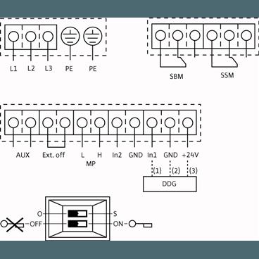 Схема подключения насоса Wilo CronoLine IL-E 100/165-22/2