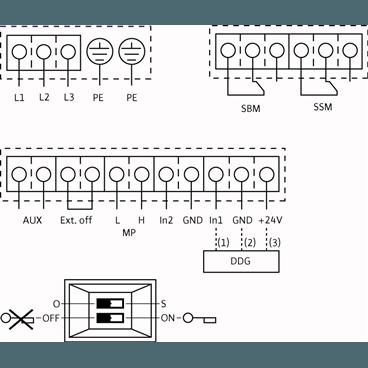Схема подключения насоса Wilo CronoTwin DL-E 100/250-7,5/4