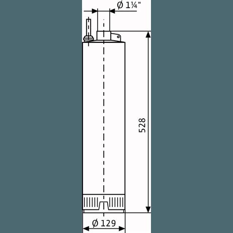Габаритный чертеж насоса Wilo Sub TWI 5-306 EM