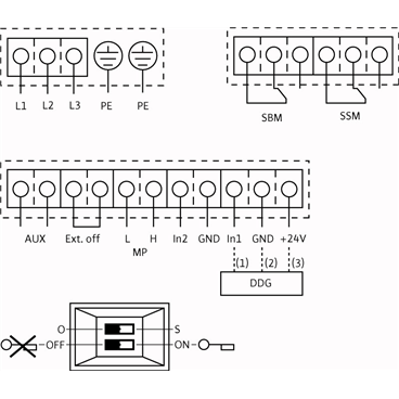 Схема подключения насоса Wilo VeroTwin DP-E 32/105-0,75/2