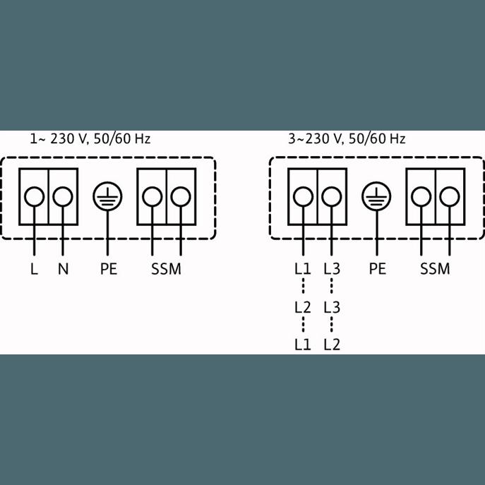 Схема подключения насоса Wilo YONOS MAXO 100/0,5-12 PN10