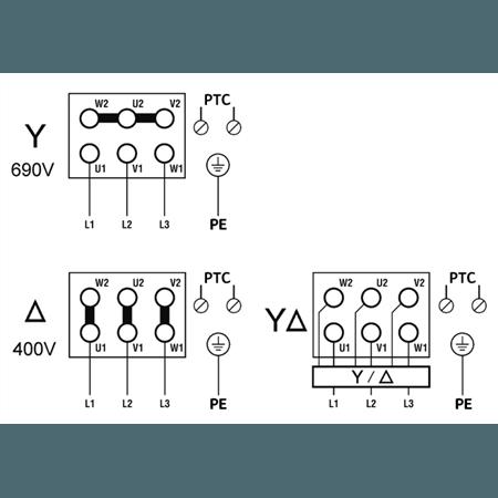 Схема подключения насоса Wilo ZEOX-FIRST H6005-55-2