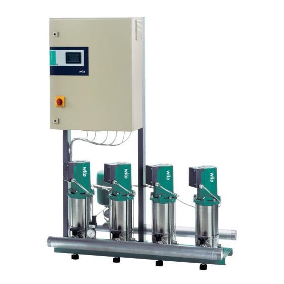 Фото насосной станции для водоснабжения и повышения давления воды Wilo CO-2 MVIS 206/CE-EB-R артикул 2524296