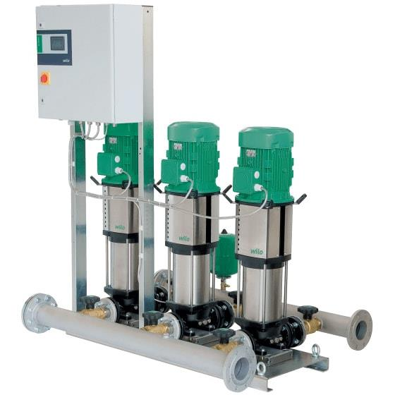 Фото насосной станции для водоснабжения и повышения давления воды Wilo COR-2 HELIX V 203/SKw-EB-R