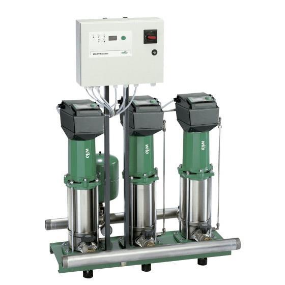 Фото насосной станции для водоснабжения и повышения давления воды Wilo COR-3 MVISE 210-2G/VR-EB-R