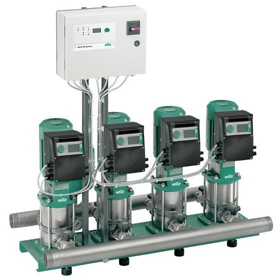 Фото насосной станции для водоснабжения и повышения давления воды Wilo COR-2 MVIE 7002/VR-EB-R артикул 2528957