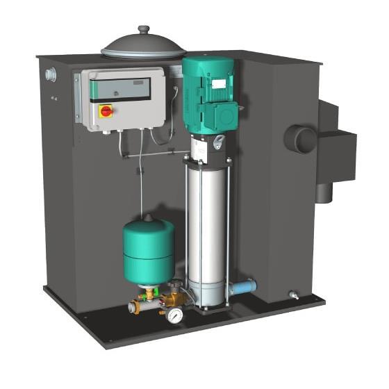 Фото насосной станции для водоснабжения и повышения давления воды Wilo CO/T-1 HELIX V 605/CE