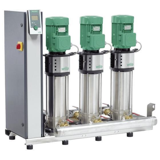 Фото насосной станции для водоснабжения и повышения давления воды Wilo Smart 2 HELIX V 1002