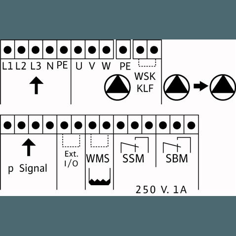 Схема подключения насосной станции Wilo CO-2 MHI 1604/CE-EB-R