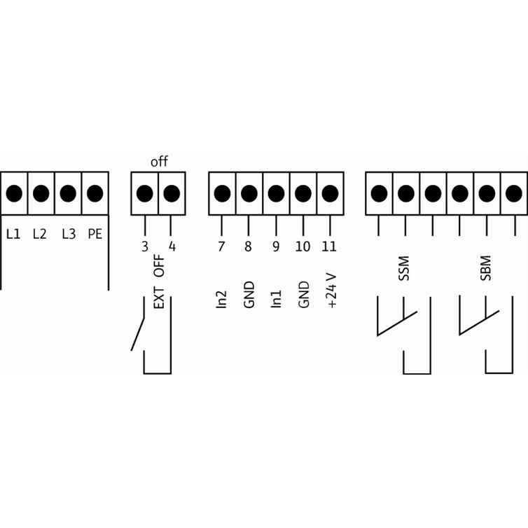 Схема подключения насосной станции Wilo COR-1 MVIE 208-2G GE-R