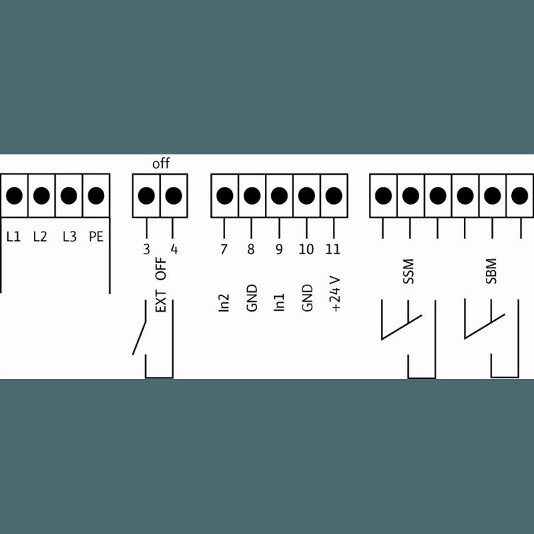 Схема подключения насосной станции Wilo COR-1 MVISE 806-2G-GE-R