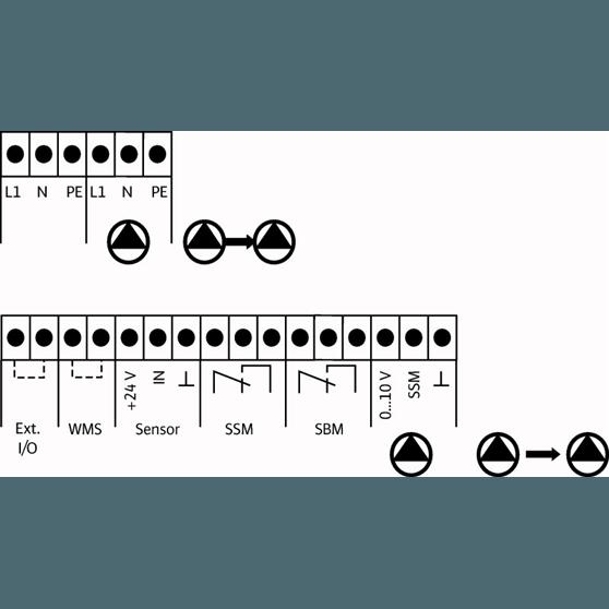 Схема подключения насосной станции Wilo COR-2 MHIE 403 EM/VR-EB-R