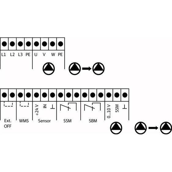 Схема подключения насосной станции Wilo COR-2 MVIE 9502/1/VR-EB-R