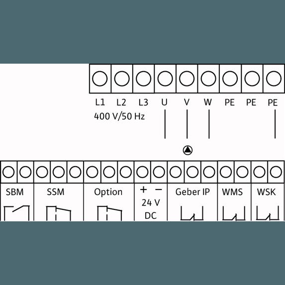 Схема подключения насосной станции Wilo CO/T-1 HELIX V 414/CE