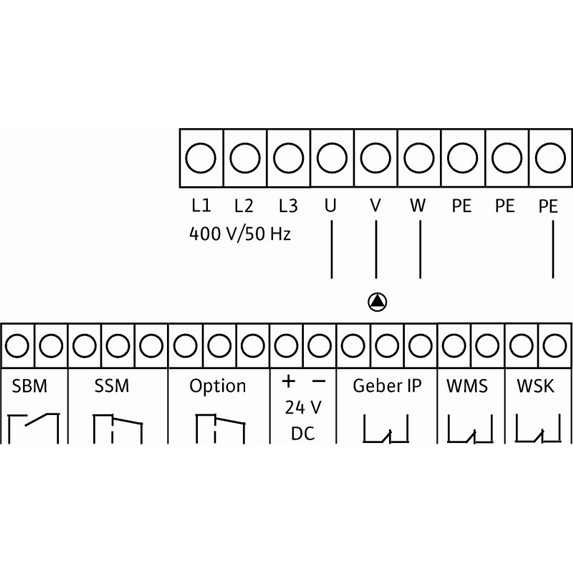 Схема подключения насосной станции Wilo CO/T-1 HELIX V 605/CE