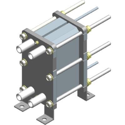 Пластинчатый разборный теплообменник Ридан НН 02 – фото внешнего вида