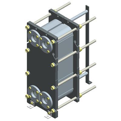 Пластинчатый разборный теплообменник Ридан НН 18 – фото внешнего вида