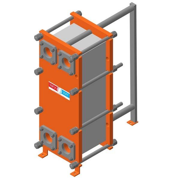 Пластинчатый разборный теплообменник Теплохит ТИ 14,6 (ДУ 65) – фото внешнего вида