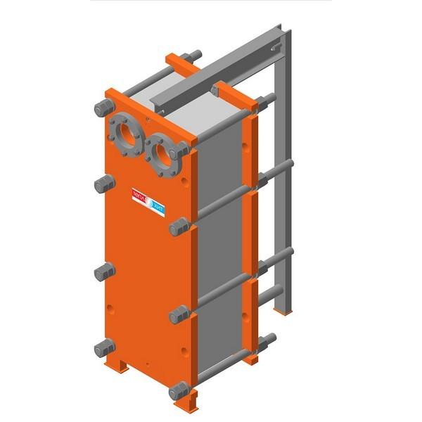 Пластинчатый разборный теплообменник Теплохит ТИ 34 (ДУ 100) – фото внешнего вида