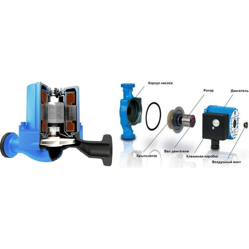 Конструкция и принцип действия циркуляционного насоса для системы отопления